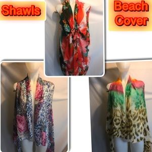 3 shawls /Beach covers brand New firm on price